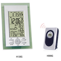 H138G Wireless Weather Station Clock