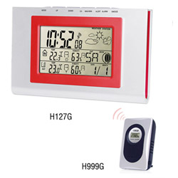 H127G Wireless Weather Station Clock