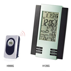 H126G Wireless Weather Station Clock