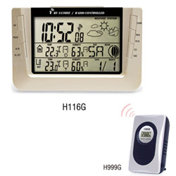 H116G Wireless Weather Station Clock